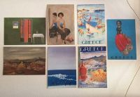 7 postcards of famous works