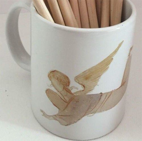 Mug with angel & logo